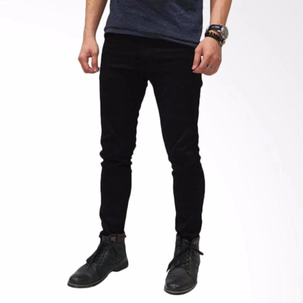 Harga Jeans Skinny Pria Premium Qwality Hitam Celana Panjang Pria Original